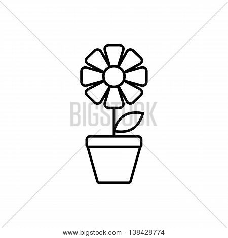 Universal Flower icon to use in web and mobile UI, ecology basic UI element. Thin line flower icon.