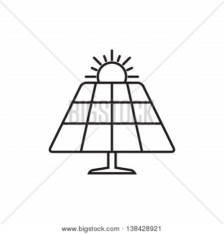 Solar energy panel. Web icon or sign isolated on white background. Collection modern trend concept design style vector illustration symbol
