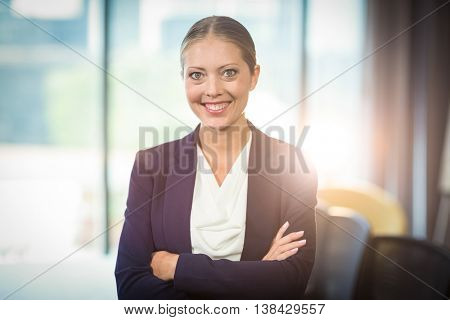 Portrait of businesswoman standing in the office