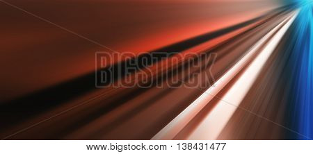 Horizontal Wide Vibrant Road To Success Perspective Abstraction