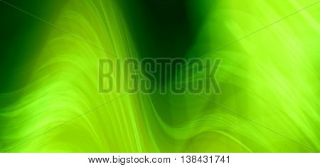 Horizontal Vivid Green Spline Blur Abstraction Background Backdr