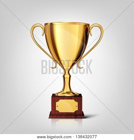 gold cup isolated on a white background ,vector illustration.