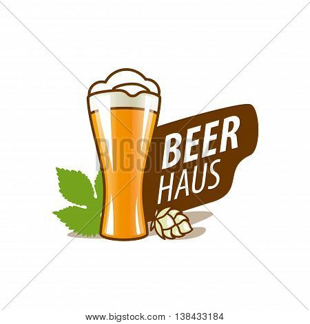 vector template logo beer glass. Vector illustration