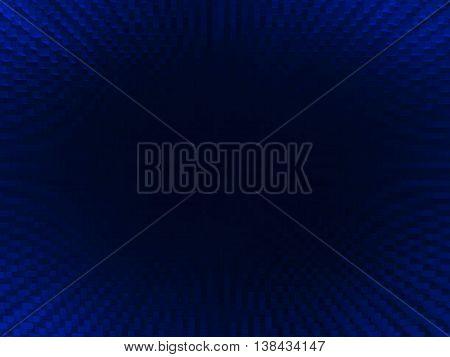 Horizontal Vivid Blue Blackhole 3D Extruded Cubes Abstraction