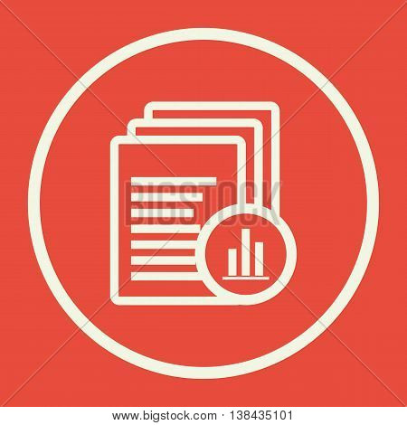 Files Stats Icon In Vector Format. Premium Quality Files Stats Symbol. Web Graphic Files Stats Sign