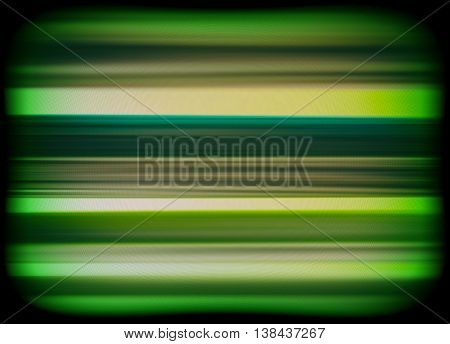 Horizontal Vivid Green Interlaced Tv Static Noise Lines Abstract