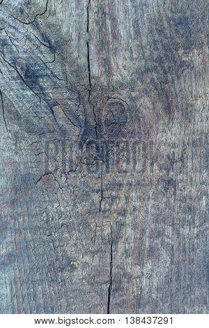 Old Destroyed Wooden Background.