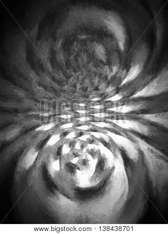 Vertical Spherical Black And White Illustration