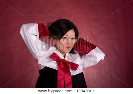 Elegant Chinese Model In Traditional Dress