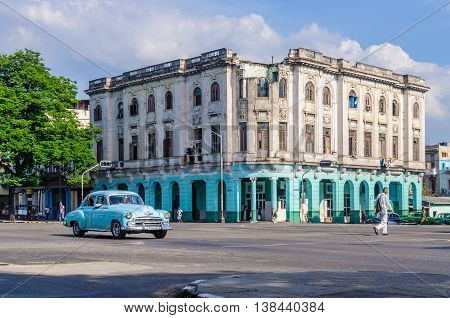 HAVANA, CUBA - MARCH 17, 2016: Street life scenery in Havana the capital of Cuba