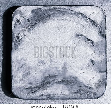 Square silver beer coaster backdrop hd 2