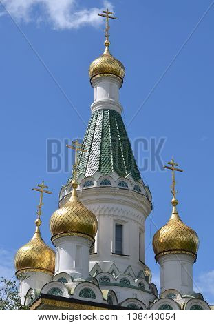 Russian Church of St Nicholas the Miracle-Maker in Sofia, Bulgaria