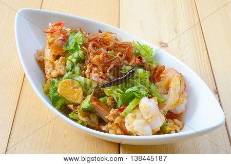 Wings Bean Spicy Salad,Thai food,People Thailand called is Yum-Tua-Phuu