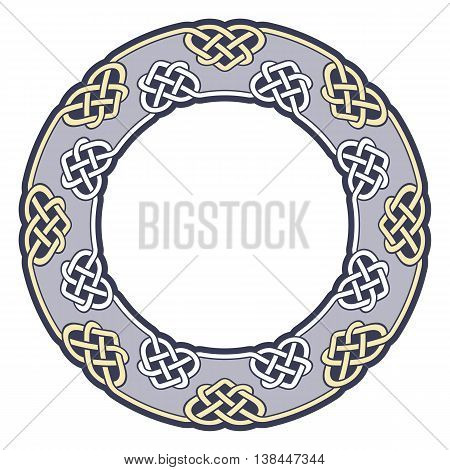 Frame in Celtic style. Vector circular pattern.
