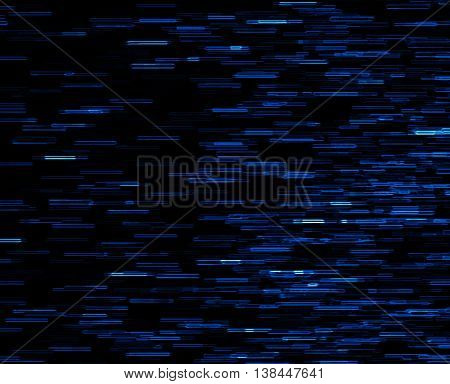 Square blue vivid 8-bit pixel dot interlaced space stars blast teleport abstraction background backdrop