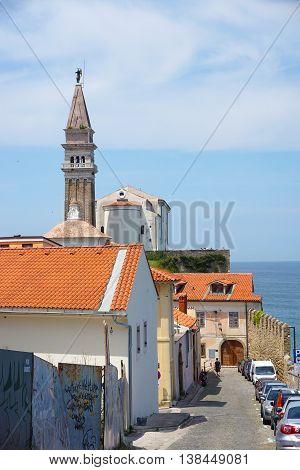Piran. Old Mediterranian city. Slovenia. Adriatic coast.