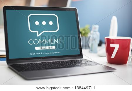 Comment Online Conversation Message Concept