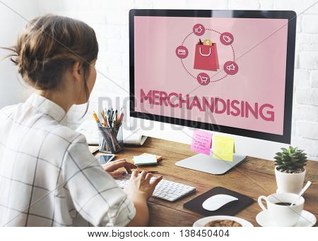 Shopping Online Buy Sale Shopaholic Concept