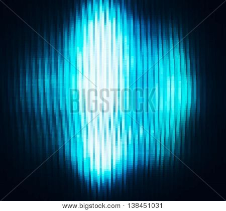 Suare pale vertical vivid blue extruded 3d cubes abstraction with glow background
