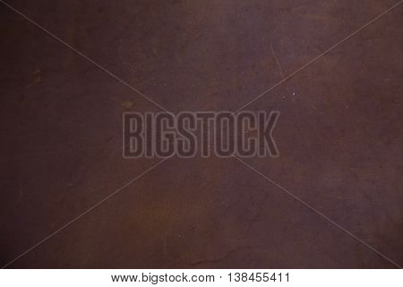 Genuine Brown Textured Cow Leather Background