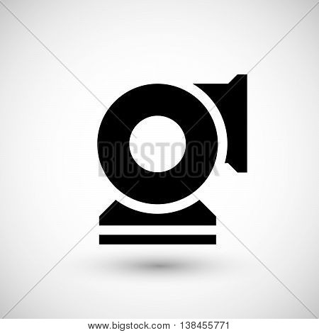 Centrifugal fan icon isolated on grey. Vector illustration