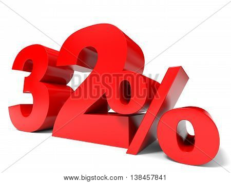 Red Thirty Two Percent Off. Discount 32%.