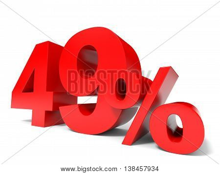 Red Forty Nine Percent Off. Discount 49%.
