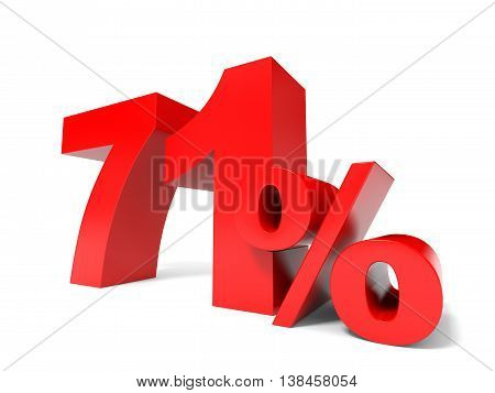Red Seventy One Percent Off. Discount 71%.
