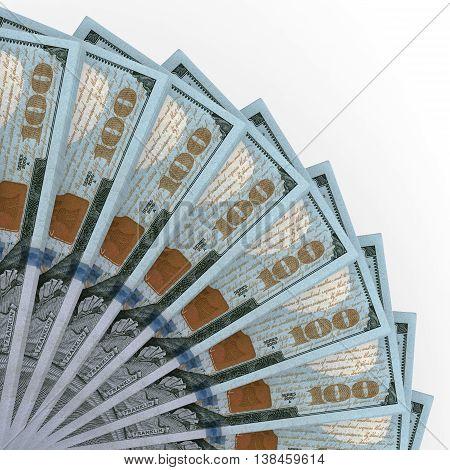 Money Fan. New One Hundred Dollars.