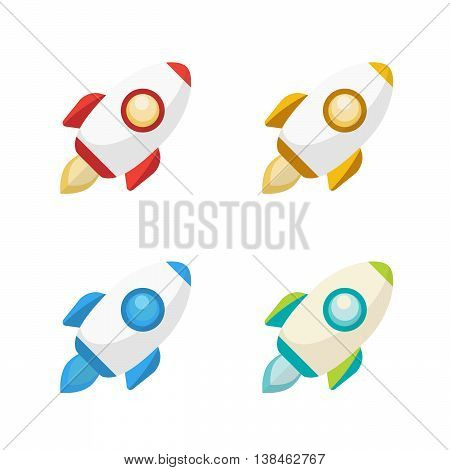 The Rocket collection icon 3d vector eps10