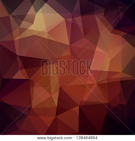 Abstract Geometric Style Brown Background. Brown Business Background Vector Illustration
