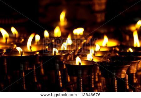 Candles at  temple