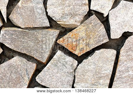 picture of a fresh constructed stone tiled wall