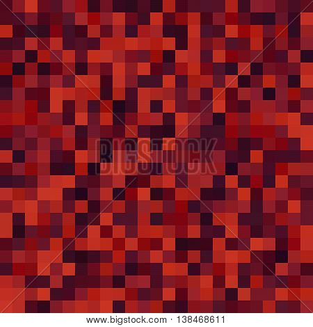 Seamless Geometric Checked Pattern. Ideal For Printing Onto Fabric And Paper Or Decoration. Red, Bro