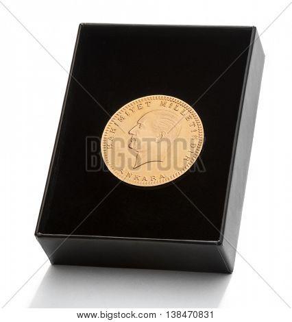 Turkish Gold Coin in Box