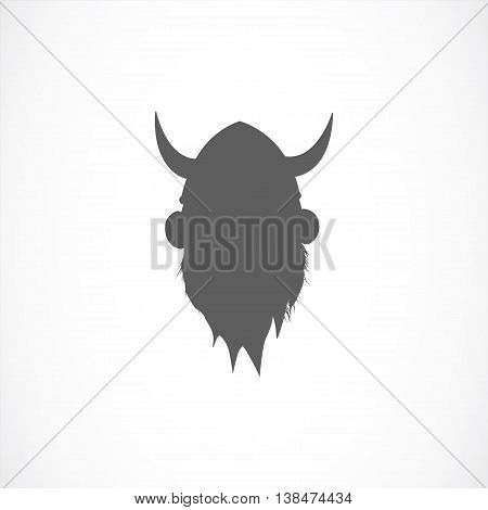 Silhouette of viking avatar in grey color