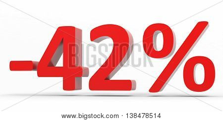 Discount 42 Percent Off Sale.
