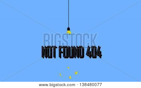 The 404 error. Design for error 404. The background image with the 404 error.