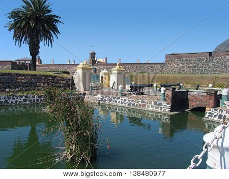 Castle Of Good Hope,With Moat In Fore Ground, Cape Town South Africa 04