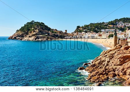Waterside View Of A Vila Vella, Tossa Del Mar. Spain