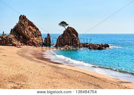 Mar Menuda Beach in Tossa de Mar. Costa Brava Spain