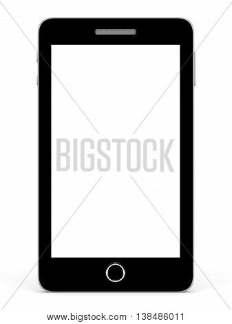 Smart Phone With Blank Screen.