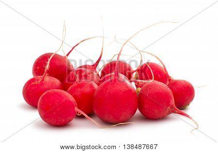 red radish  food isolated on white background