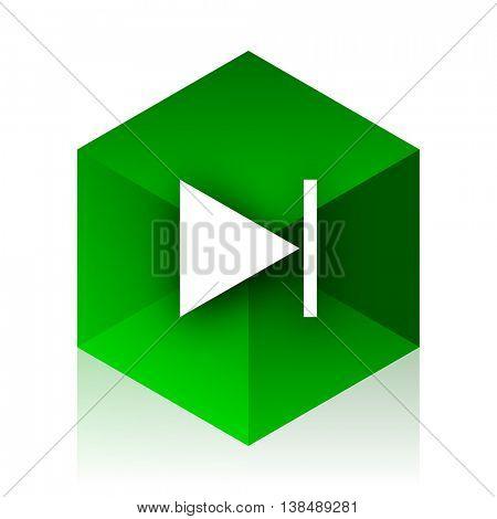 next cube icon, green modern design web element