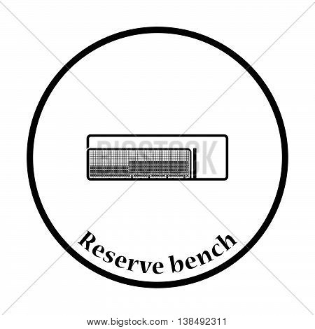 Baseball Reserve Bench Icon