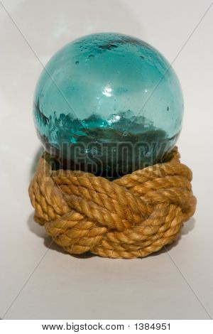 Japanese Fishing Float On A Knotted Ho
