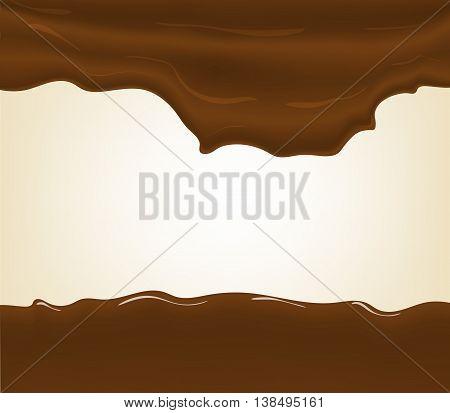 Hot chocolate splash, isolated on white background.
