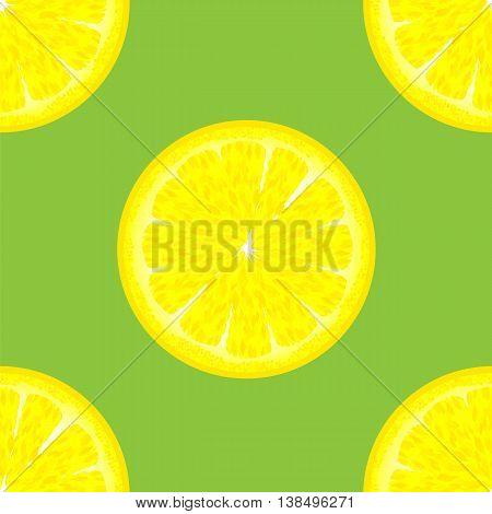 Sliced Citrus Seamless Pattern. Exotic Ftuit Background