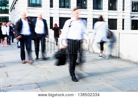 Walking Commuters At Rush Hour