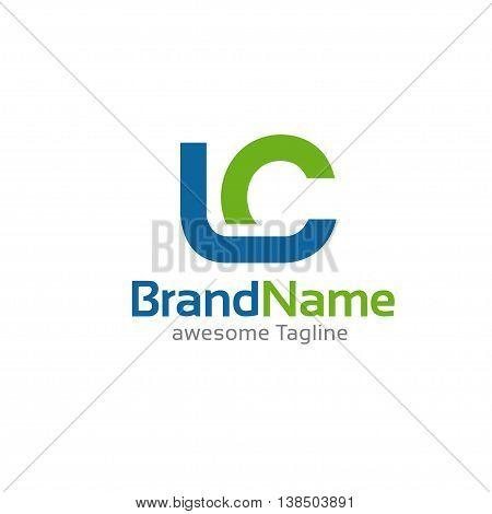 creative letter LC logo concept, innovative LC letter icon